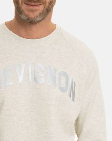 SWEAT SHIRT ECRU GRIS CHINE DAVIDE