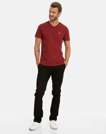 TEE-SHIRT ROUGE POURPRE T-TOGS V