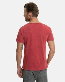 TEE-SHIRT ROUGE POURPRE UNLIMITED VINTAGE