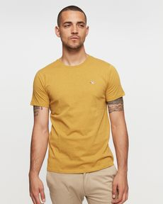 TEE-SHIRT JAUNE MOUTARDE CHINE T-TOGS