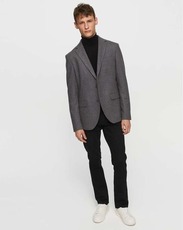 VESTE GRIS CHINE FONCE WOOL JACKET