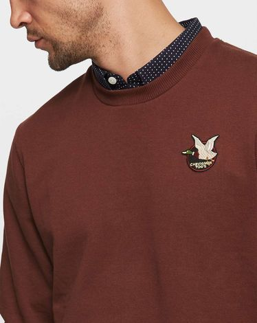 SWEAT ROUGE BURGUNDY COMBED