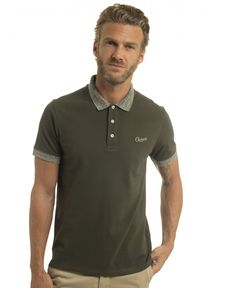 POLO VERT FORET HEATHER