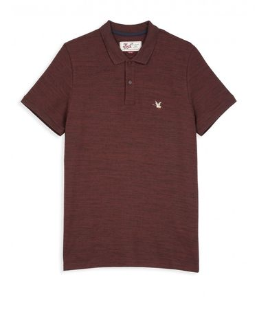 POLO ROUGE BURGUNDY CHINE O-TOGS SLIM