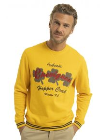 SWEAT SHIRT JAUNE D'OR CLOVER
