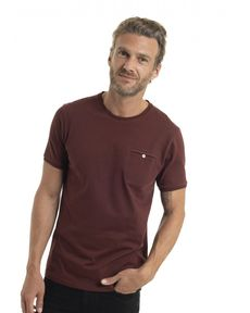 TEE-SHIRT ROUGE BURGUNDY BRITO