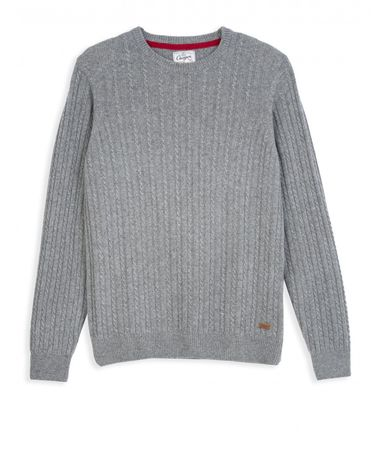 PULL GRIS CHINE CLAIR HALFY