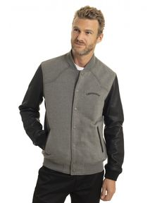 BLOUSON CUIR GRIS CHINE NEW MATT