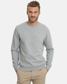SWEAT SHIRT ECRU GRIS CHINE ANDREA