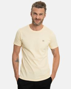 TEE-SHIRT JAUNE CLAIR CHINE T-TOGS