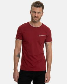 TEE-SHIRT ROUGE POURPRE ERIC