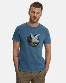 TEE-SHIRT BLEU UNLIMITED VINTAGE