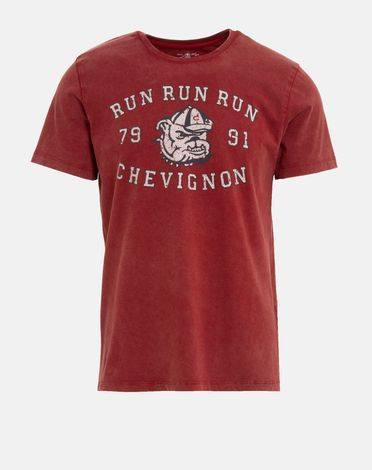 TEE-SHIRT ROUGE POURPRE DIDIER