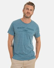 TEE-SHIRT BLEU GRIS PAUL