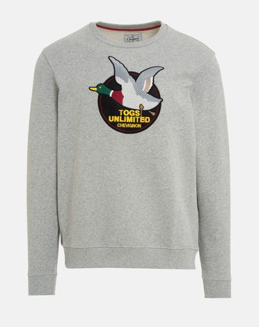 SWEAT SHIRT GRIS CHINE CLAIR TOGS UNLIMITED