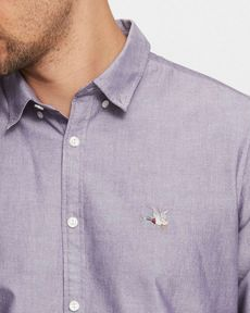CHEMISE PURPLE OXFORD