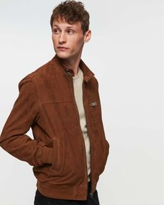 BLOUSON CUIR MARRON MEMBERS