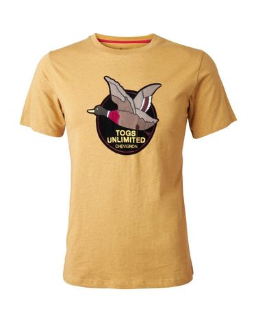 TEE-SHIRT JAUNE MOUTARDE CHINE UNLIMITED TEE