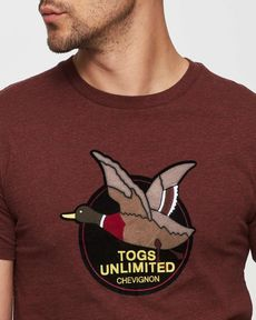 TEE-SHIRT ROUGE BURGUNDY CHINE UNLIMITED TEE
