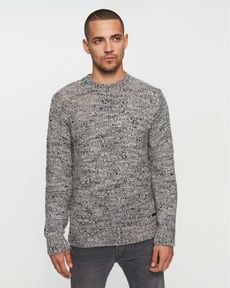 PULL GRIS CHINE NEPS