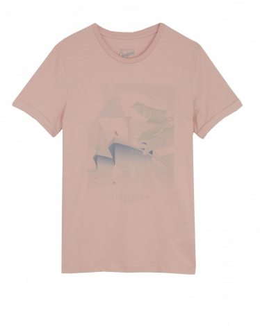 TEE-SHIRT ROSE CHAMALOW T-PARADISE