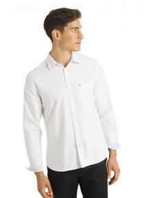 CHEMISE STRAIGHT BLANC CL OXFORD TOGS
