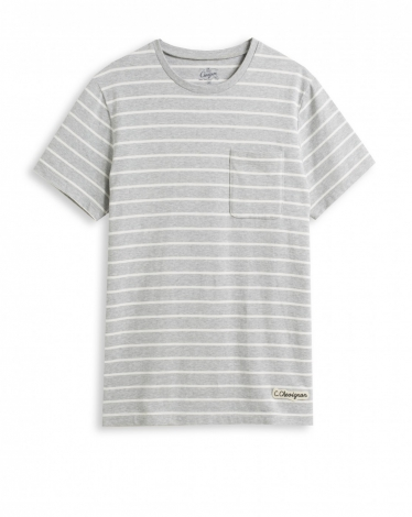 TEE-SHIRT GRIS CHINE T-BANDS