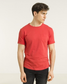 TEE-SHIRT ROUGE VERMILLON T-TEE