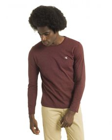 TEE-SHIRT ROUGE BURGUNDY CHINE TL-TOGS