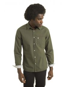 CHEMISE VERT FORET OXFORD TOGS
