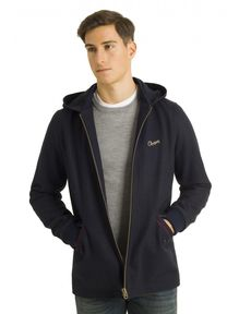 MANTEAU NAVY CRYSTAL LONG
