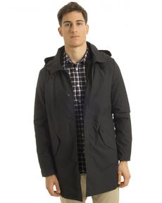 PARKA NOIR FISHERMAN LONG