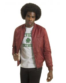 BLOUSON ROUGE BURGUNDY TED NYLON
