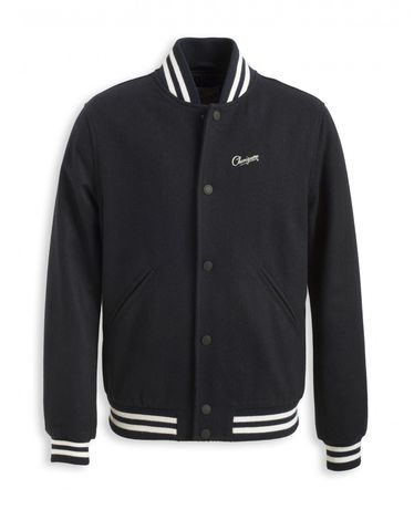 BLOUSON NAVY TEDDY WOOL