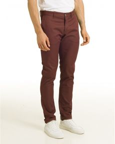 PANTALON ROUGE BURGUNDY TOGS SLIM