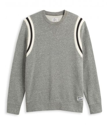 SWEAT GRIS CHINE QUATERBACK