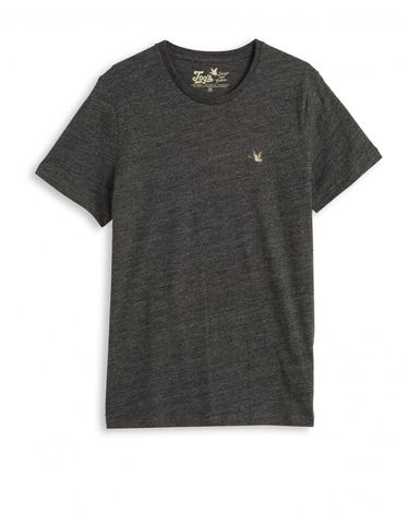 TEE-SHIRT GRIS ANTHRACITE CHINE T-TOGS