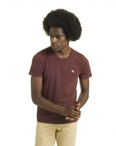 TEE-SHIRT ROUGE BURGUNDY CHINE T-TOGS