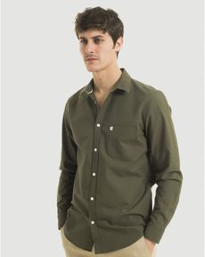 CHEMISE VERT OLIVE CL OXFORD TOGS