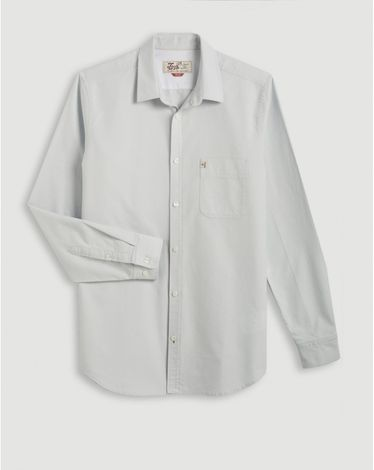 CHEMISE GRIS PERLE CL OXFORD TOGS