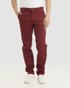 PANTALON ROUGE POURPRE TOGS STRAIGHT