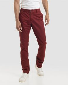 PANTALON ROUGE POURPRE TOGS SLIM