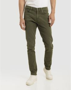 DENIM VERT OLIVE FANCY COLOR SLIM