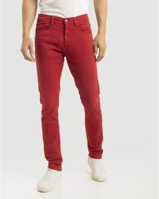 DENIM ROUGE PIMENT FANCY COLOR SLIM