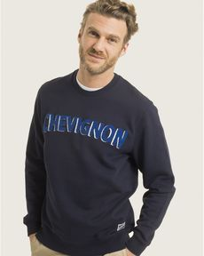SWEAT NAVY MARCEL FRONT