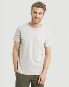 TEE-SHIRT GRIS PERLE CHINE T-TOGS