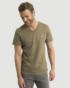 TEE-SHIRT VERT OLIVE CHINE T-TOGS V