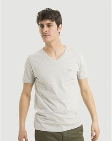 TEE-SHIRT GRIS PERLE CHINE T-TOGS V