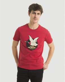 TEE-SHIRT ROUGE PIMENT UNLIMITED TEE
