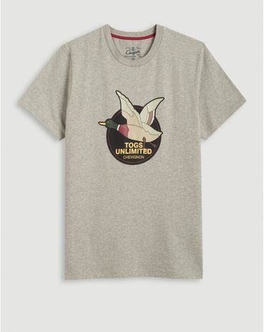 TEE-SHIRT GRIS CHINE CLAIR UNLIMITED TEE
